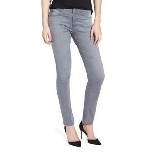 AG The Prima Mid Rise Cigarette Jeans in Gray